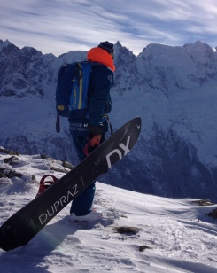 snoboard hors pistes frzzride au Brevent Chamonix