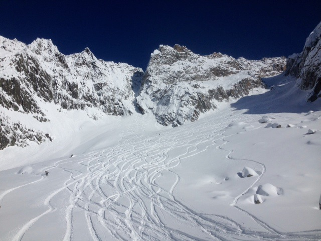Une semaine de freeride en snowboard à Chamonix