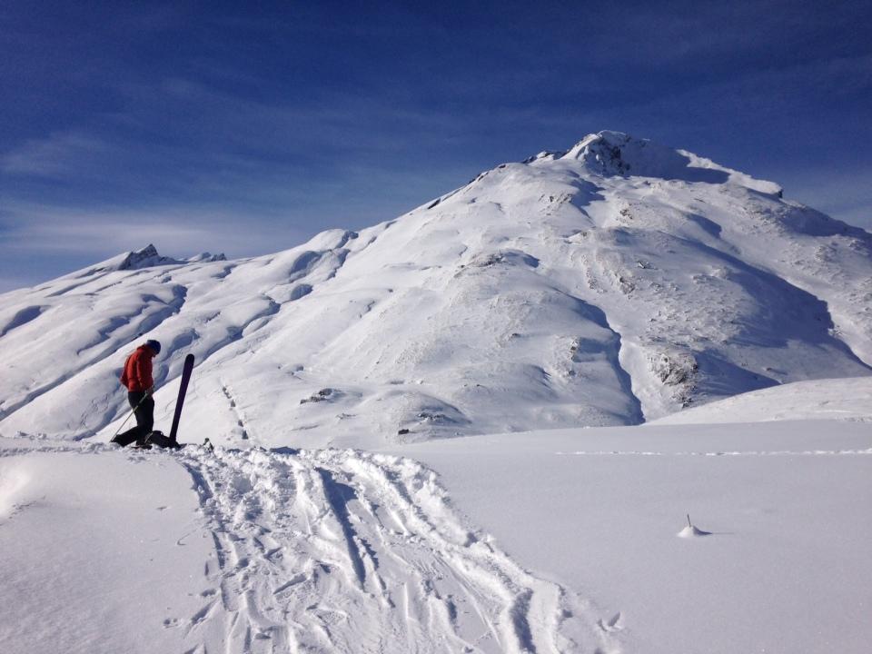 le sommet de lancebranlette en ski de rando et splitboard en novembre 2015