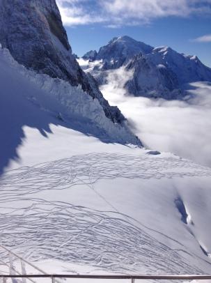 neige, soleil et très bon ski aux Grands Montets