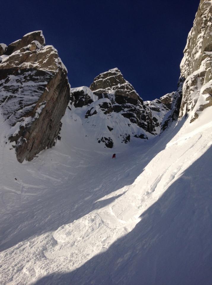 couloir de l'ENSA depuis le sommet du Brevent.