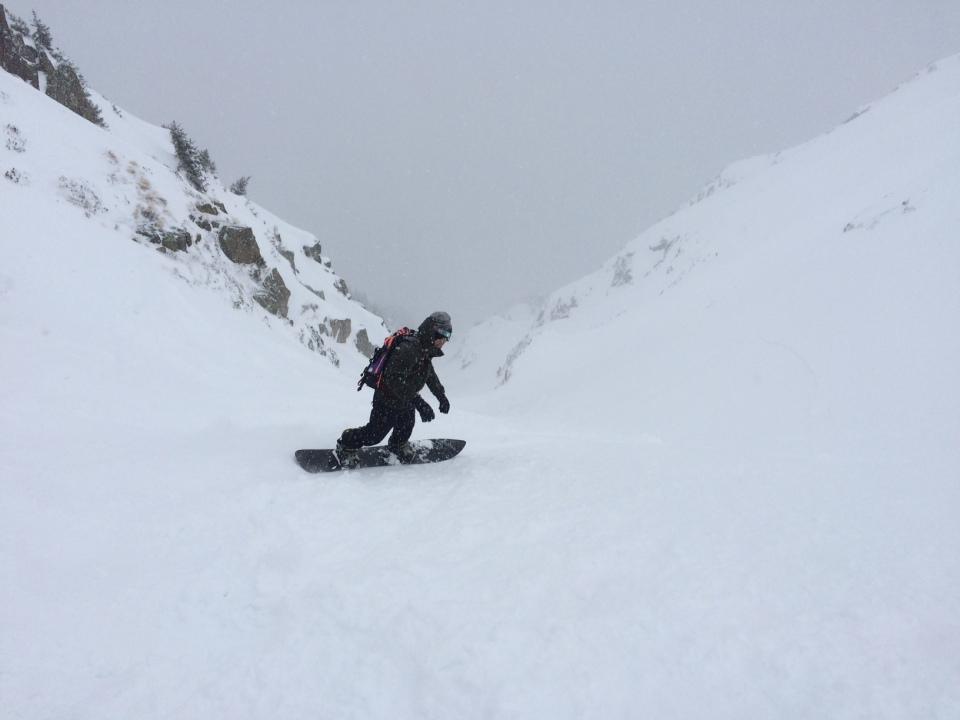 Les couloirs du Brévent sont exceptionnels a rider en snowboard