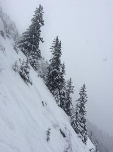 Les couloirs du Brévent en snowboard ou en ski hors pistes et freeride