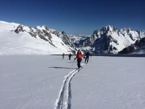 ski de randonné depuis Helbronner en allant au Col d'Entraves