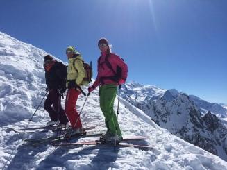 Ski de randonné dans les aiguilles rouges au Glacier du Mort