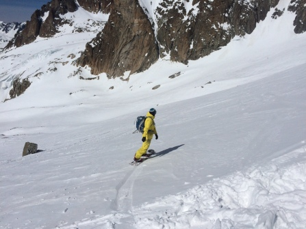 splitboard sur le Glacier d'Argentière