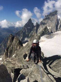 jolie course d'alpinisme