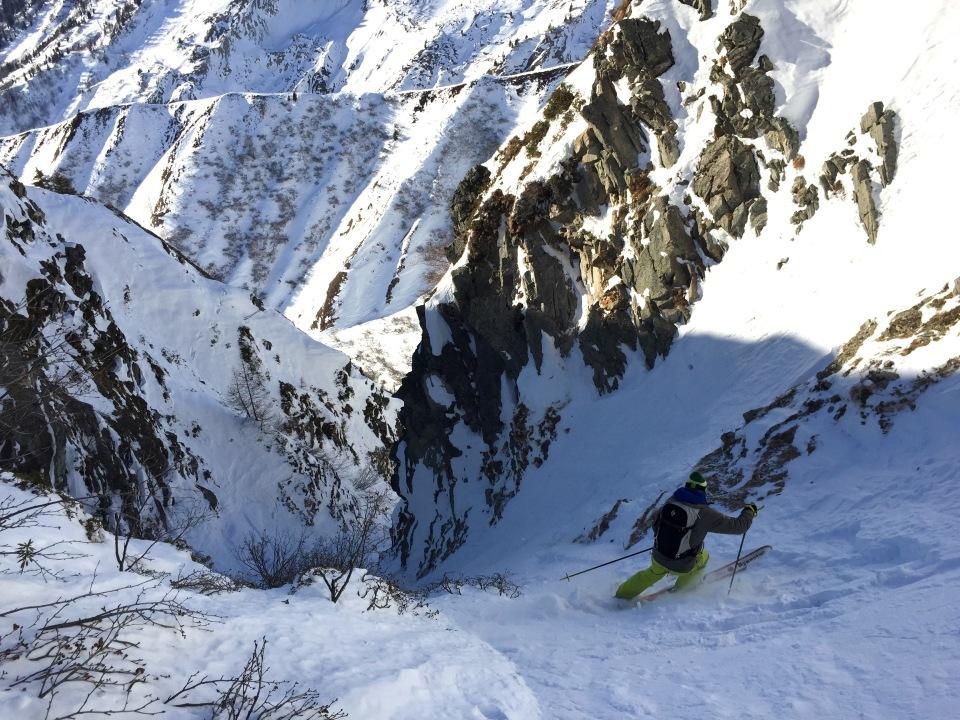 en ski ou en snow les couloir de la vormaine au tour chamonix