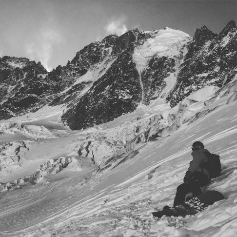 En snow Aux Grands Montets