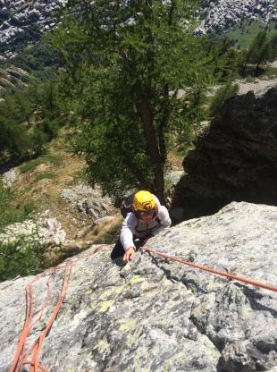 escalade au mont chétif à courmayeur