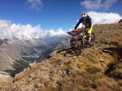 VTT enduro a Courmayeur au mont fortin col youla, dolonne