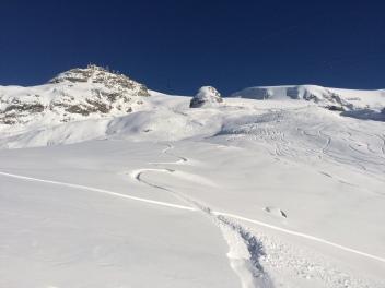 snowboard hors pistes à Cervinia italie