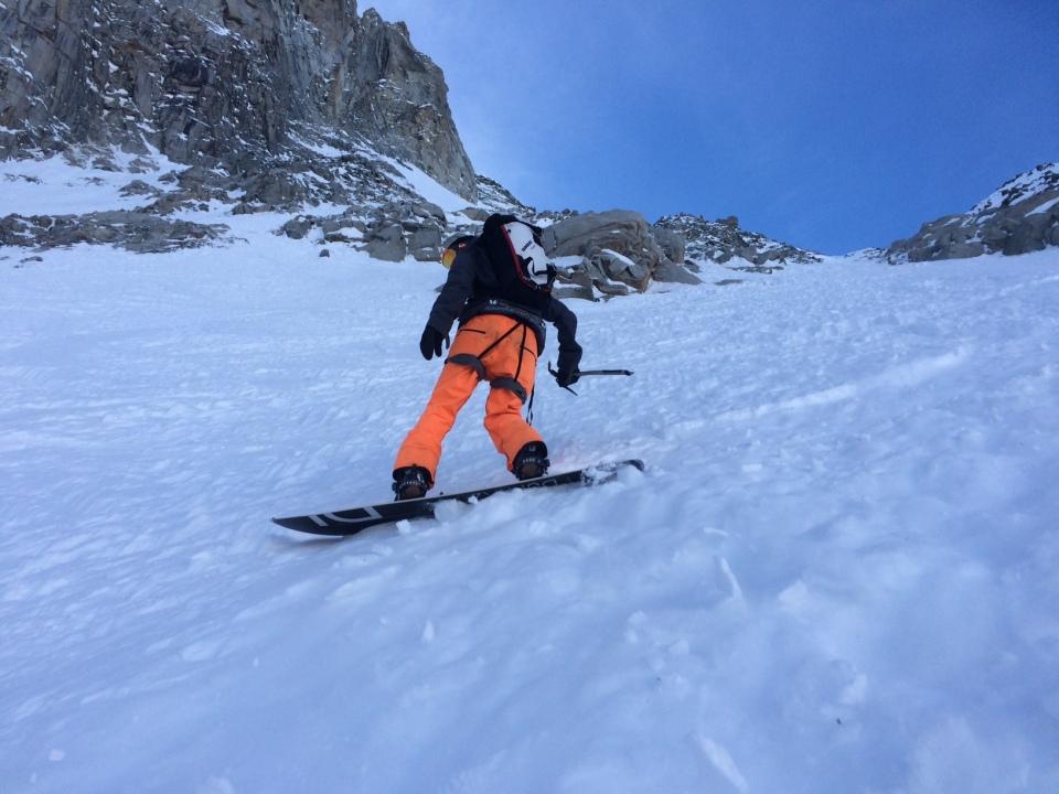 snowboard au col des cristaux