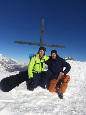Au sommet du Mont Valezan