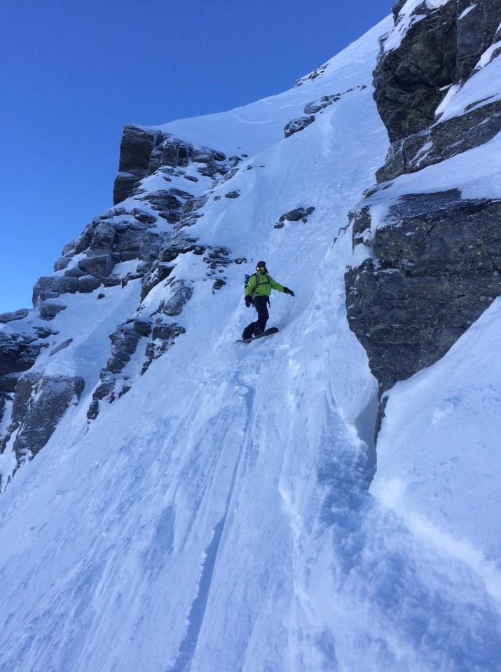 Descente du Mont Valezan en Splitboard