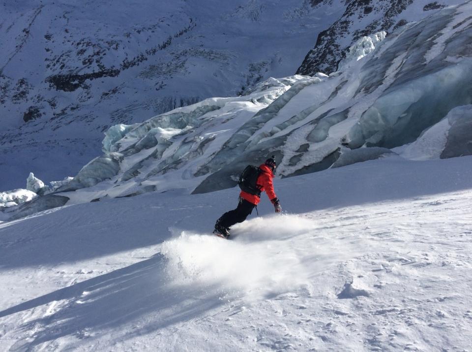 Le long des séracs de la Vallée Blanche, Aiguille du Midi, Chamonix