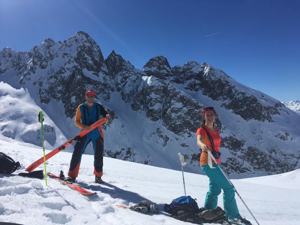 ski de randonnée dans les aiguilles rouge; crochues berrard