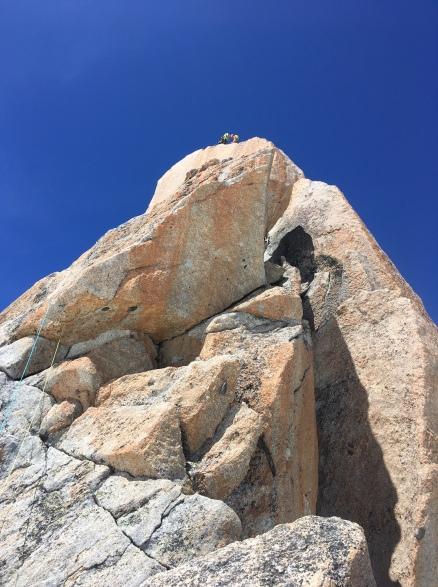escalade sur le granit de la contamine a l'aiguille du midi