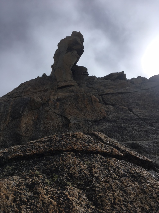 dernière longueur avant le sommet du grand capucin