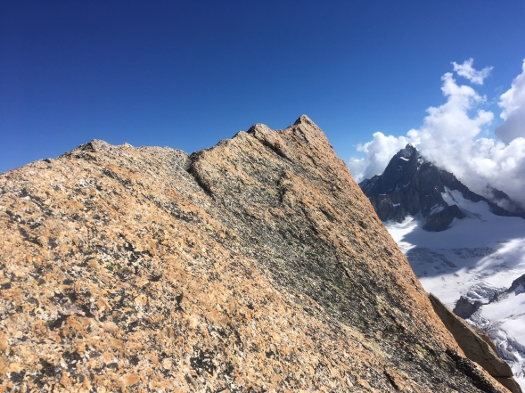the grand capucin with a mountain guide