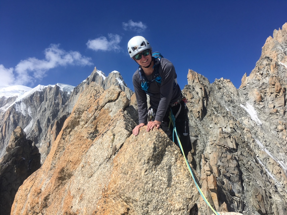 Climbing the Grand Capucin by the swiss route