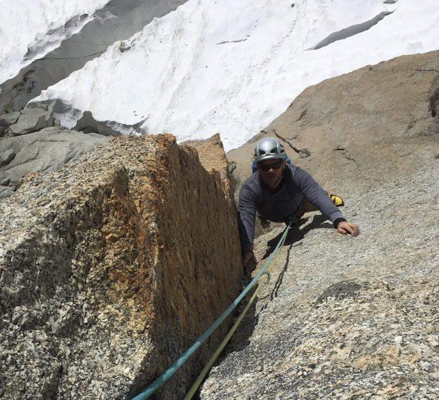escalade en granit sur la Chandelle du Tacul Bonati Tabou