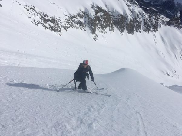 ski freeride sur la Face sud du col d'entrèves
