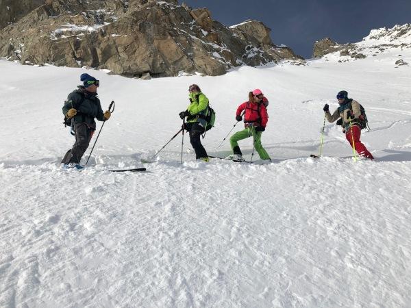 ski sur la Face sud du col d'entrèves