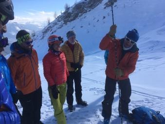 recherche ova et sondage à l'ice climbing 2019, snow safety