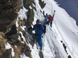 en sortant au col de beugeant en ski de rando