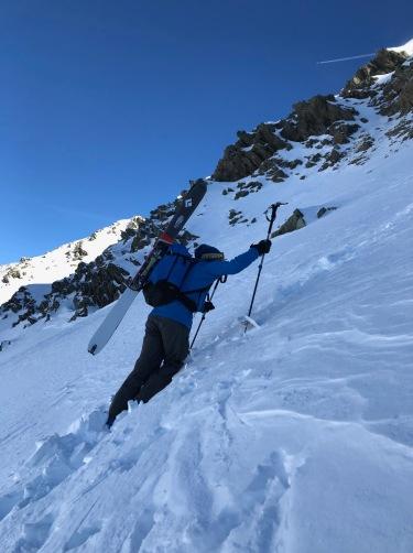 ski de rando a la pointe de bron depuis le Tour